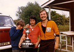 CC is on the extreme right. First rowing prize in 1979 at Oxford